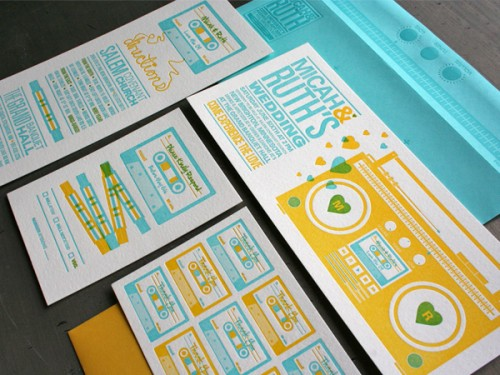 Studio On Fire: Mix Tape Wedding Invites